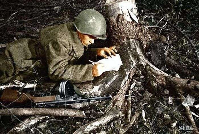 Радянські солдати у Велику Вітчизняну Війну (53 фото)