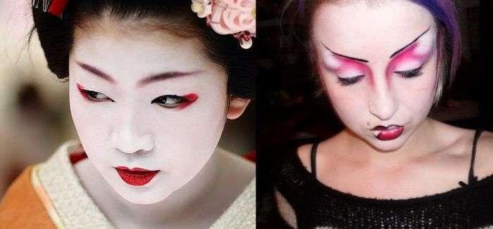 Жахливий макіяж (51 фото)