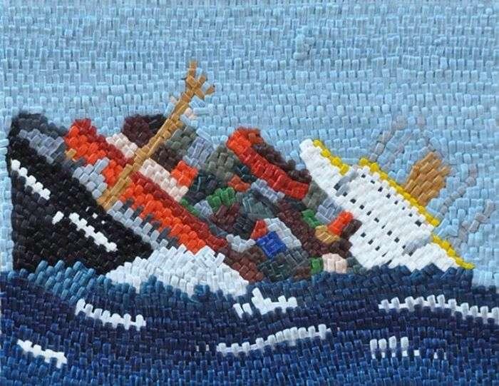 Замальовки аварії судна (18 фото)