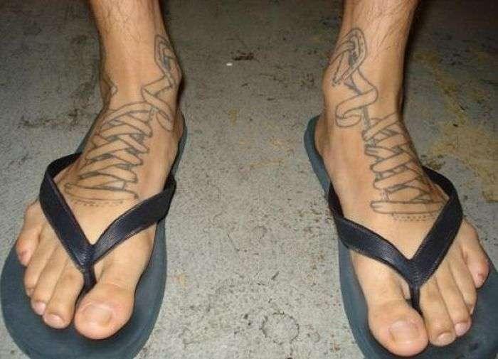 Тату на ногах (11 фото)