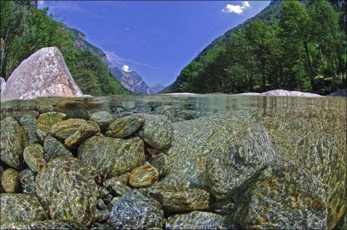 Кришталево чиста вода річки Верзаска (12 фото)