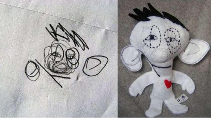 Малюнки дітей, втілені в життя. Частина 2 (23 фото)