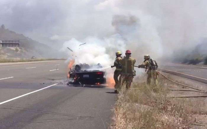 Згорілий Lamborghini (3 фото + відео)