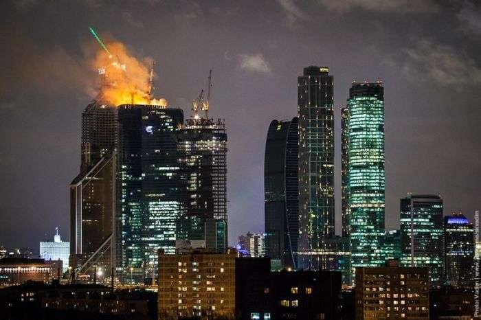 Пожежа в центрі Москва-Сіті (21 фото + 2 відео)