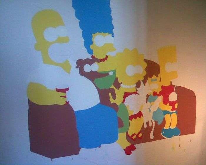 Сімпсони на стіні (17 фото)