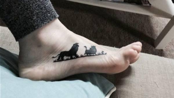 33 татуировки по мотивам любимых фильмов и мультфильмов Интересное