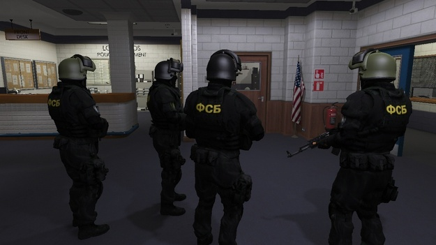 В GTA 5 ворвался российский спецназ ФСБ action,adventures,gta 5,pc,ps,xbox,Игры,Приключения,Шутеры
