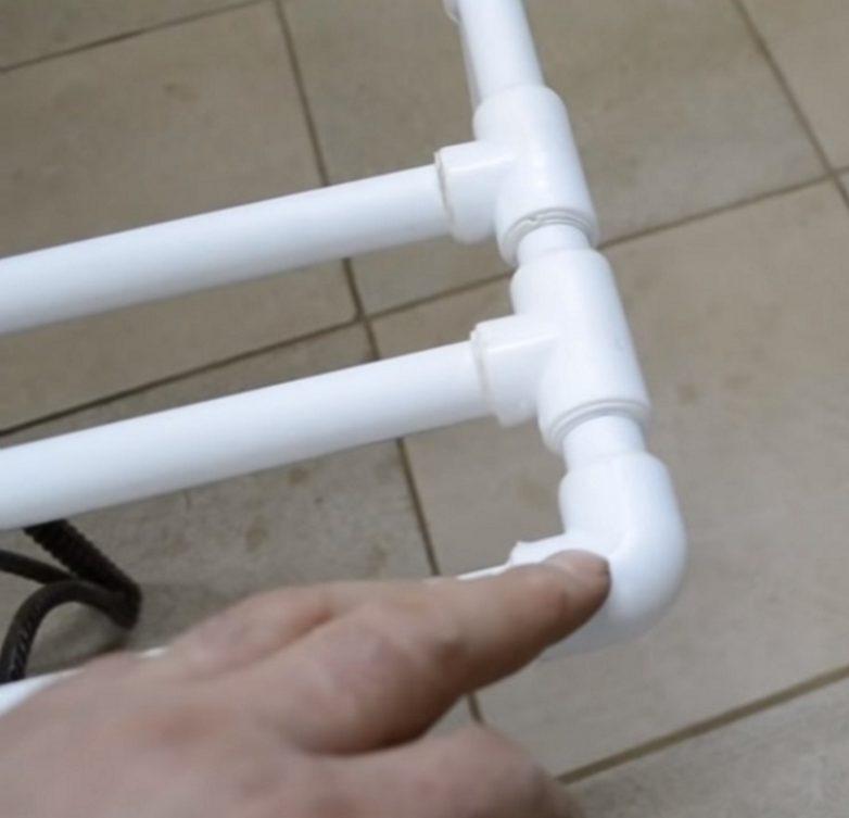 Сушилка из пластиковых труб мужское хобби,своими руками,сущилка из труб