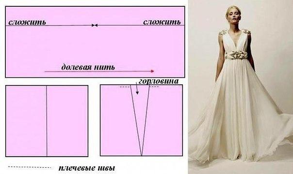 Выкройка греческого платья выкройка платья,гре ческое платье,одежда,своими руками