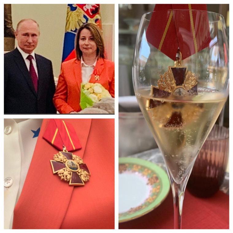Россияне не поняли, за какие заслуги экс-глава пресс-службы Медведева получила орден. власть,награды,общество,Путин,россияне