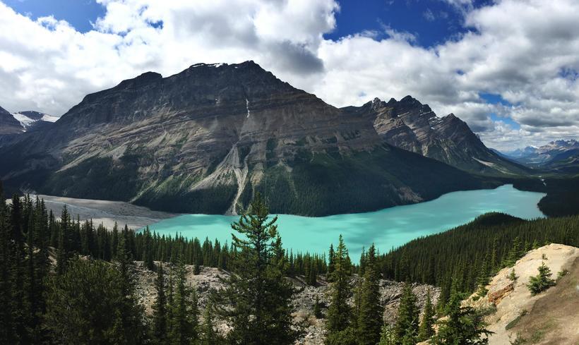 Канадское озеро Пейто: почему оно имеет такой восхитительный цвет воды природа,Путешествия,фото